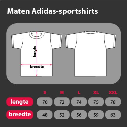 Maten Adidas sportshirt