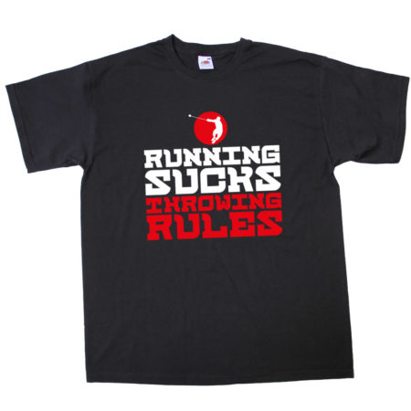 t-shirt_heren_Running_sucks