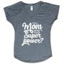 Supermom t-shirt grijs
