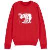 sweater kogelslingeren rood
