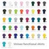 Unisex functional shirts