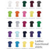 Ladies functional shirts