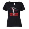 Golf t-shirt Keep your Distance dames